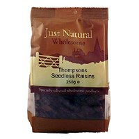 Just Natural Wholesome Raisins Seedless 250g