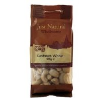 Just Natural Wholesome Whole Cashews 125g