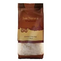 Just Natural Wholesome Coconut Chips Raw 125g
