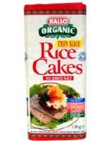 Kallo Thin Rice Cakes No Added Salt 130g