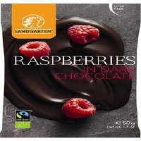 Landgarten Raspberries in Dark Chocolate 50g