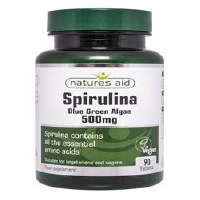 Natures Aid Organic Spirulina 500mg 90 capsule