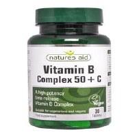 Natures Aid Vitamin B Complex + Vitamin C 30 Tablets