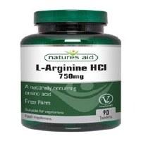Natures Aid L-Arginine HCl 750mg 90 Tablets