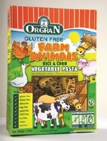 Orgran Rice & Corn Veg Animal Shapes 200g