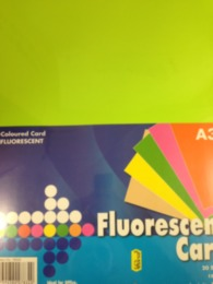 A3 155gsm Card 20 Sheets - Fluorescent Colours