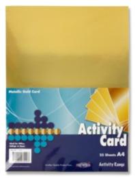 Premier A4 Metallic Gold Card 25 Sheets