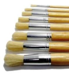 Major Hog Bristle Brushes size 4 Pack of 10