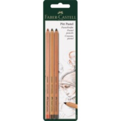 Faber Castell Pastel Pencils 3 Pack (Sanguine, Walnut Brown and Dark Sepia)