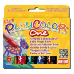 Playcolor One Poster Paint Sticks 6 pack