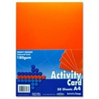 Premier A4 160gsm Activity Card - Bright Orange