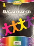 A4 Sugar Paper Pack 200 Sheets - Assorted Colours
