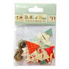 Belle & Boo Bunting Pieces & Jute. Make your own teeny tiny Belle & boo bunting from these lovely pieces printed with a selection of our favourite patterns. Perfect for finishing a cake, decorating a card or a special party in a dolls house.