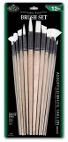 BRUSH SET ASST WHITE TAKLON