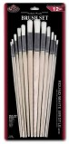 BRUSH SET ROUND WHITE BRIDTLE