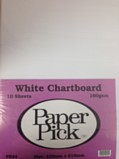 Paper Pick Chartboard 10 Sheets - White
