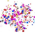 COLOURED STARS GUMMED