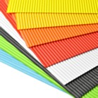 Corrugated Roll (50 x 70cm) - Orange