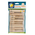 Dolly Pegs Pack of 12 - Natural