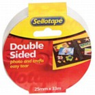 Double Sided Sellotape Roll (12mm x 33m)