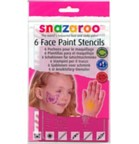 6 Face Painting Stencils for Girls