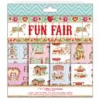 """Helz Cuppleditch Fun Fair Glitter Decoupage 8"""" x 8"""" Sheets"""