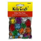 Glitter Pom Poms Pack of 25 - Assorted Sizes