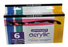Daler Rowney Graduate Acrylic Set 6 Metallic colours