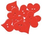 Heart Buttons Pack of 9