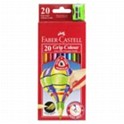 Colouring Pencils - Faber Castell 20 Extra Thick Triangular colouring pencils