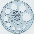 Linex 360 degree protractor with circle templates