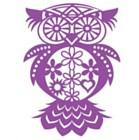 Marabu Stencil - FLOWER OWL