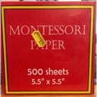 Montessori Inset Paper (500)