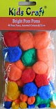 Pom Poms Bag of 40 - Bright Colours