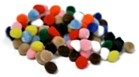 Pom Poms Pack of 25 - Assorted Colours