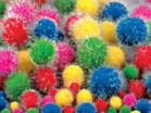 Pom Poms Pack of 24 - Glitter