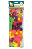 Pom Poms Pack of 100 - Neon