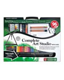 Complete Art Studio with Easel (96 pieces)