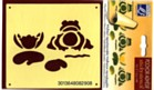 Stencil - Frog & Waterlily