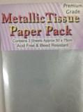 Metallic Tissue Paper Pack - Silver
