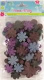 Wool Felt Flowers Pack of 20 - Violet
