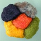 This is a good general purpose felting wool; suitable for wet and dry felting. It felts easily and is a basic wool that is useful to beginners. There is a wide range of colours available.