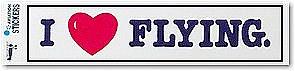 Sticker/I Love Flying
