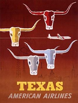 AA Vintage Texas  11 x 14