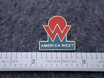 America West Lapel Pin