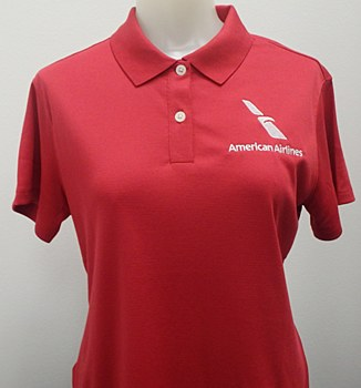 Ladie's Red Polo SM