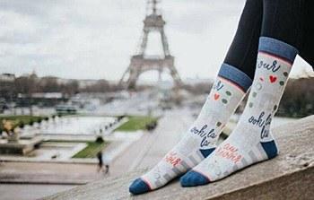 Ladies Paris Je T'aime Socks