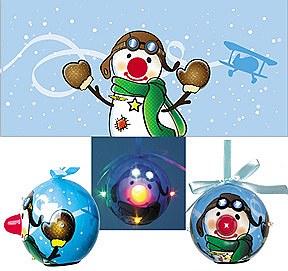 Pilot Snowman Ornament