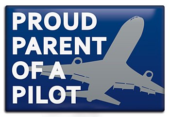 """Proud Parent of Pilot"" Magnet"
