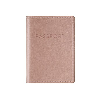 Rose Gold Passport Case